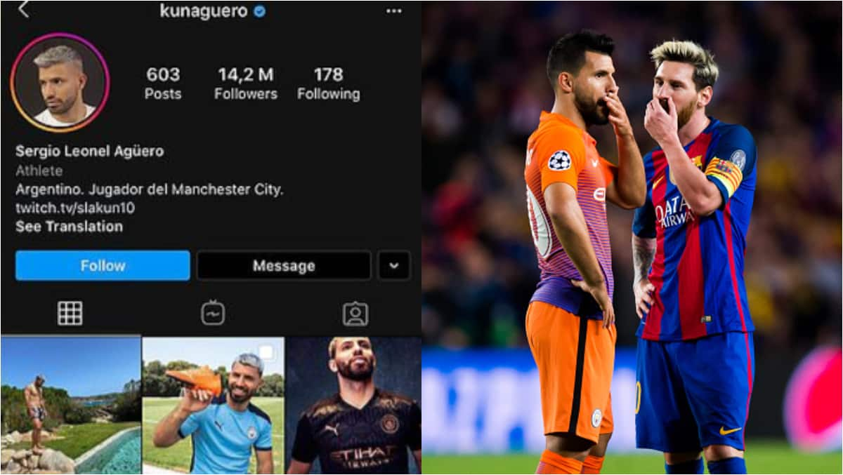 Aguero removes No.10 from Instagram, fans believe Messi will join City