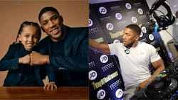 Boxing champion Anthony Joshua posts adorable photo of himself and his son to celebrate Fathers Day