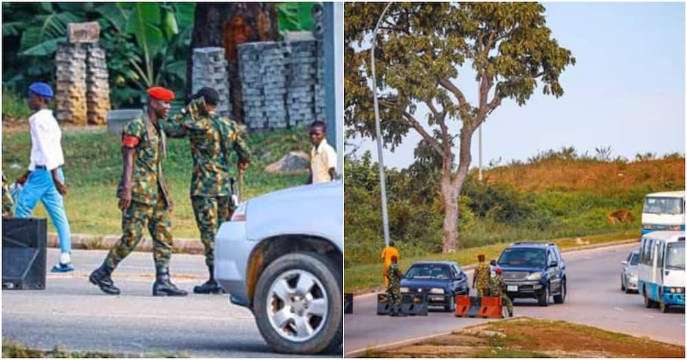 EndSARS: Nigerian soldiers block scene of planned protest in Abuja