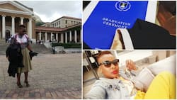 Beautiful woman celebrates graduation in style, wishes herself well