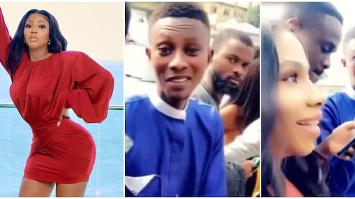 Mercy Eke in search of man who gave her his tag during 2019 BBNaija audition, shares video of them on queue