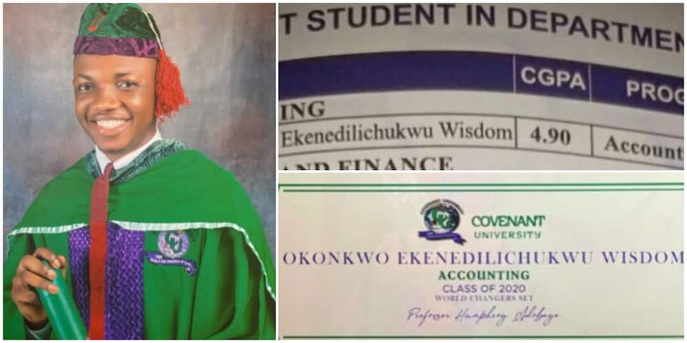 Young Nigerian Man Emerges Best Graduating Accounting Student, see His Other Impressive Achievements