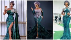 Go green with envy: 10 stunning looks at 'Miss Pepeye' and Super Eagles player Olayinka Peter's wedding