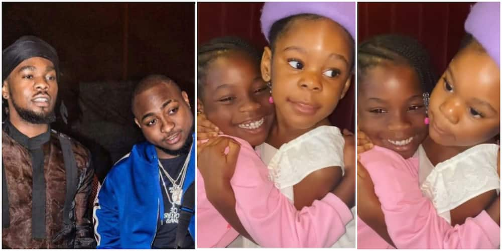 Their Fathers' Daughters: Davido's Imade and Patoranking's Wilmer Hang Out, Fans Gush Over Them