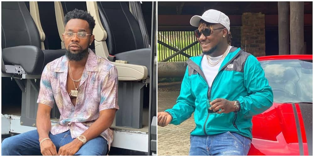 Music stars Patoranking and CDQ exchange blows in hilarious video, fans react