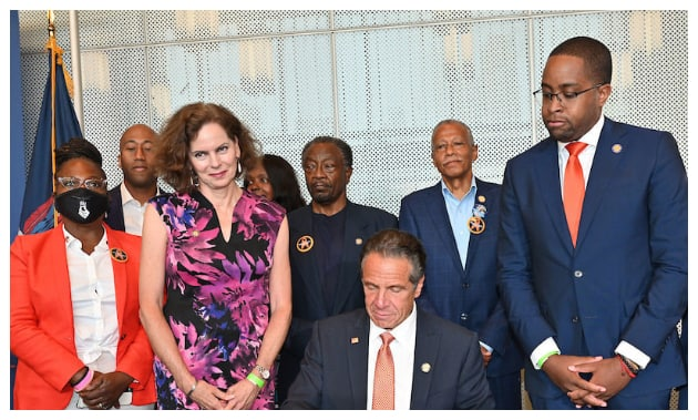 Andrew Cuomo with some state officials