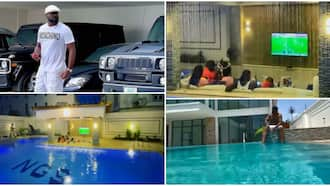 God's blessings: Jude Okoye flaunts his massive swimming pool, expensive cars, as he clocks new age