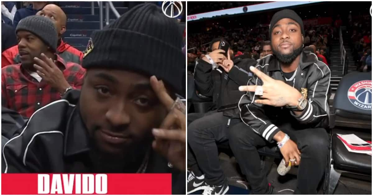 Nigerians react as Americans ask who Davido is after recognition during NBA game