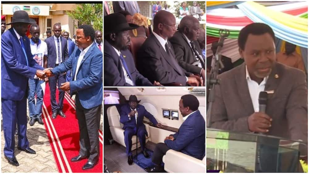 TB Joshua: How late prophet brought peace, end civil war in South Suda, photos show