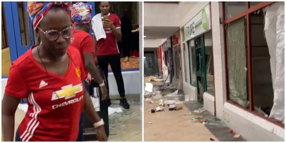 Tara Durotoye visits her vandalized store, sends encouraging message to entrepreneurs