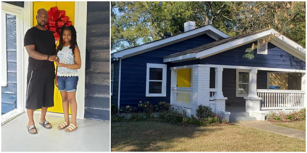 Man surprises his 13-year-old daughter with a new house on her birthday, photos causes huge stir on social media
