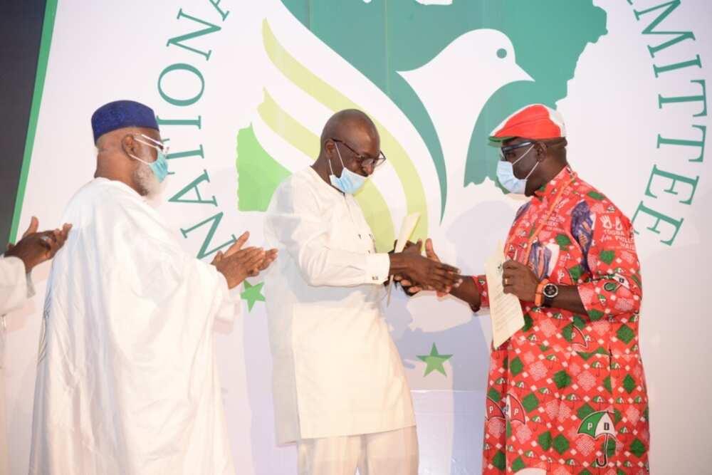 Edo election: Obaseki says he has no issues with Ize-Iyamu