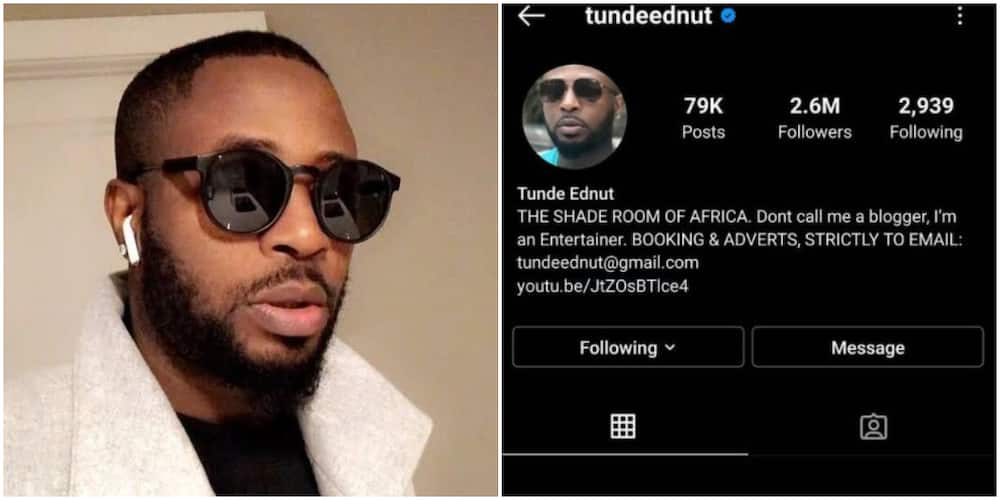 Blogger Tunde Ednut Loses Instagram Page Speed Darlington Reacts New accounts get 10 gb of cloud storage with yandex.disk. blogger tunde ednut loses instagram