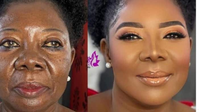This is Magic: Makeup artist wows many as she transform 75-year-old woman into sweet 16, photos goes viral