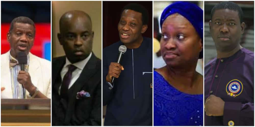 Pastor Adeboye prays for his children as they all celebrate their wedding anniversary (photo)