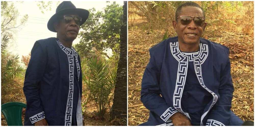 Veteran actor Nkem Owoh clocks 63 in style, rocks stylish outfit in new social media post