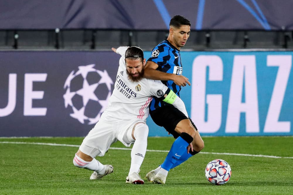 Sergio Ramos spotted 'attacking' Achraf Hakimi during Real Madrid's win over Inter Milan