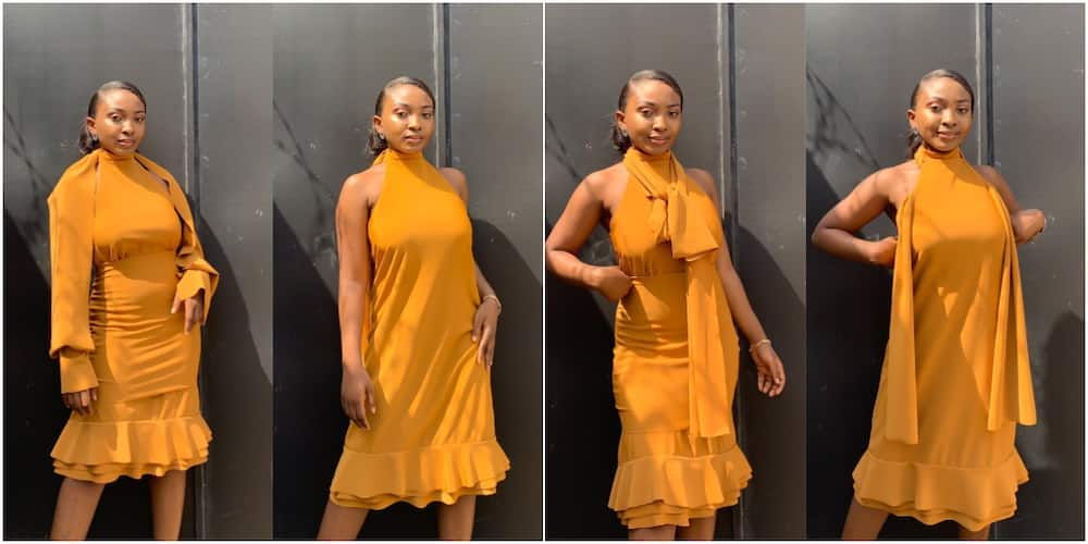 Nigerian female tailor makes dress that can be worn in 6 different ways