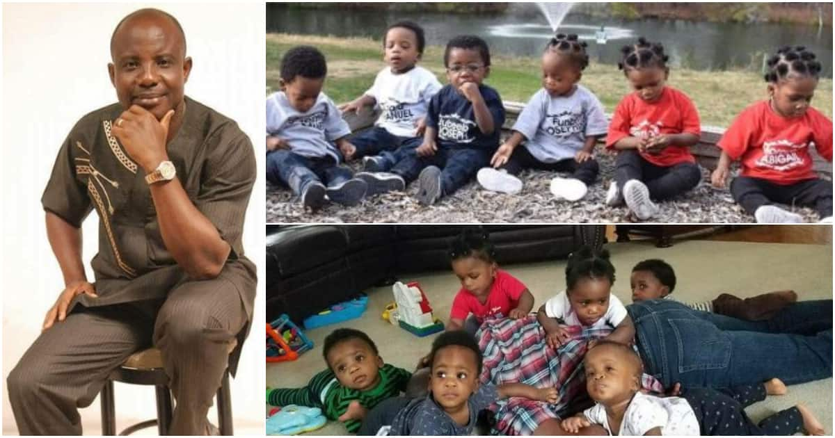 Amazing photos of sextuplets born in 2017 after 17 years of parents'  marriage, their dad turns 50 ▷ Legit.ng