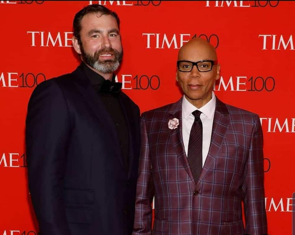 How long has RuPaul been with his husband?