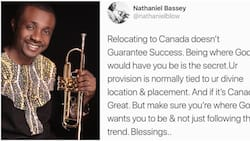 Gospel singer Nathaniel Bassey says relocating to Canada does not guarantee success