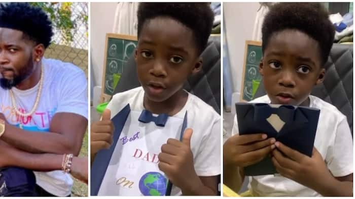 Best dad on earth: Teebillz gets cute Father's Day video from son Jamil with Tiwa Savage