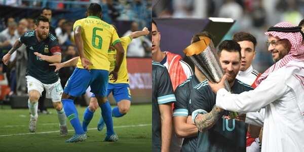 Argentina vs Brazil: Lionel Messi embarrasses Philippe Coutinho in Superclasico Cup