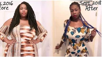 Nigerian lady shares her weight-loss story, says she misses her hips (photos)