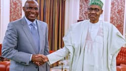 Yanzu Yanzu: Buhari, Oshiomhole da Omo-Agege na kus-kus a fadar Villa