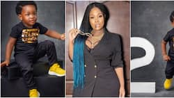 OAP Toolz celebrates son at 2, reveals what she went through during pregnancy as she shares adorable photos of Chairman