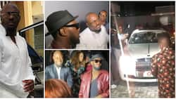 Jim Iyke makes grand entrance at his film premiere as he shows up in white Rolls Royce, celebs storm event