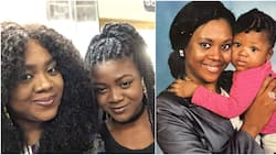 Reactions as Stella Damasus shares 21-year-old throwback photo of herself and daughter