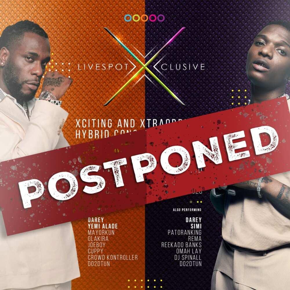 LiveSpot360 Suspends X-Clusive Burna Boy and Wizkid Concerts, Cites COVID-19 Concerns