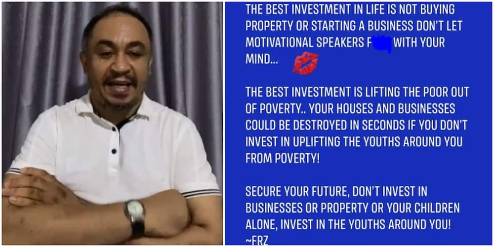 OAP Daddy Freeze says the best investment is lifting the poor out of poverty