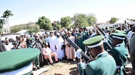 Nigeria's ex-Chief of Army Staff celebrated in death, buried in Kaduna (photos)