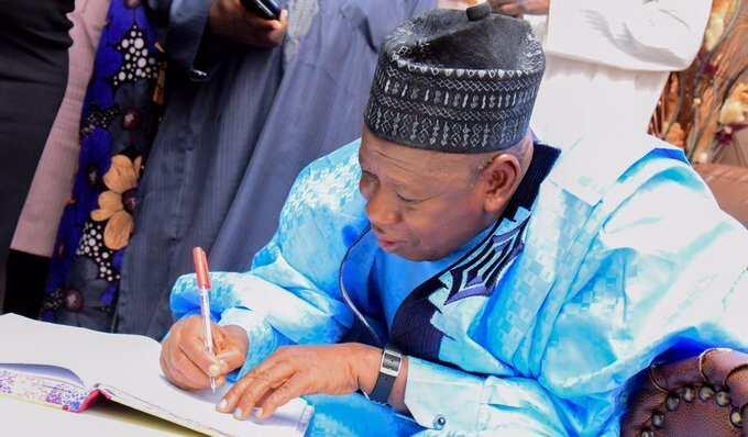 Gwamnan Kano; Abdullahi Umar Ganduje Hoto daga fadar gwamnatin Kano