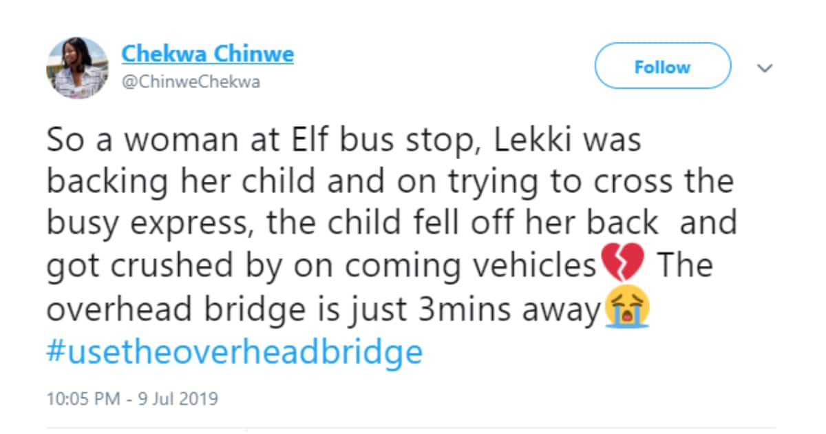 Baby allegedly falls off the back of mum on busy express in Lagos - Legit.ng