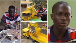 17-year-old Nigerian boy creates remote-controlled excavator prototype using wood and aluminium in video