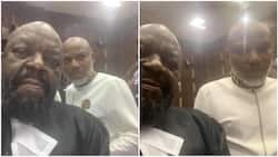 Just in: Guilty or not? Nnamdi Kanu reacts to 7-count charge of terrorism as IPOB leader appears in court