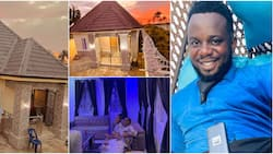 Mummy & daddy, manage this small gift: Comedian Sabinus gifts his parents a cute house in Port Harcourt