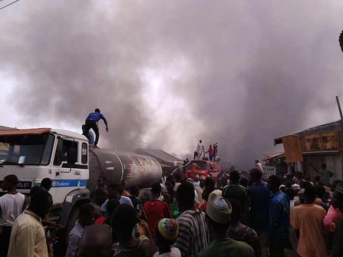 Just In: Fire Razes Katsina Central Market, Goods Worth Millions of naira Destroyed