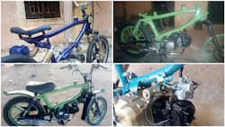 Highly skilled Nigerian man with no formal education builds motorcycles in Katsina, photos stir reactions