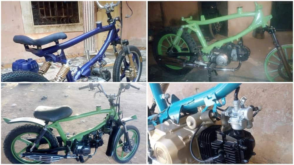 Highly Skilled Nigerian Man with No Formal Education Builds Motorcycles in Katsina