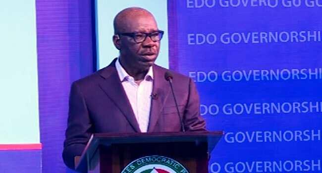 Edo election: You can't plan Edo economy on optimism, Obaseki chides Ize-Iyamu