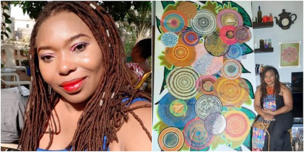 So lovely: Nigerian Artist Wows Social Media with Her Artwork, Adorable Photo of Masterpiece Goes Viral