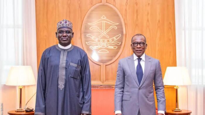 Buratai meets President Talon of Benin Republic in Cotonou