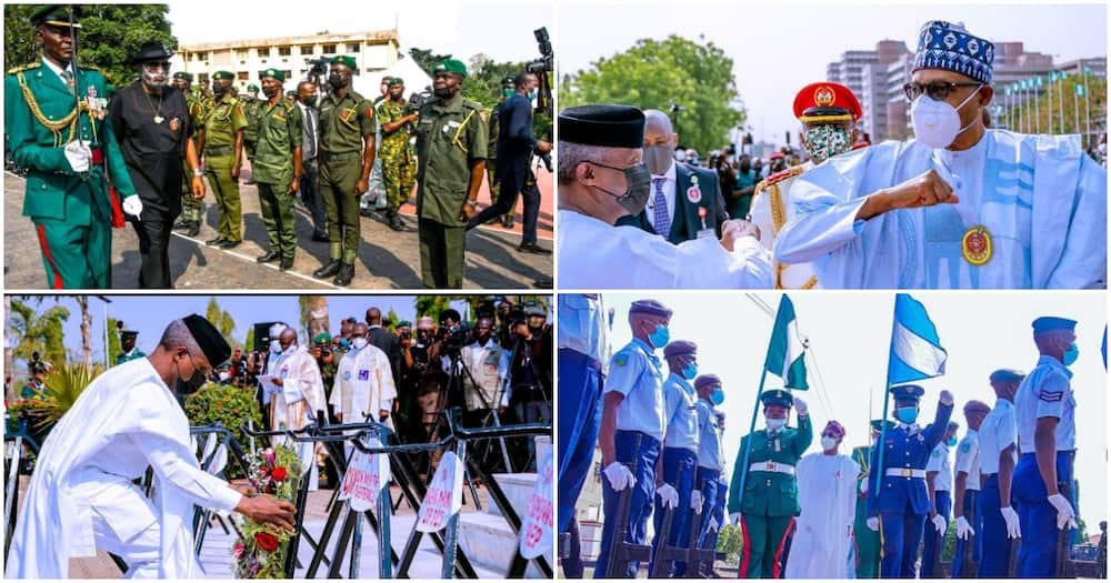 Touching moments from Armed Forces Remembrance Day across Nigeria