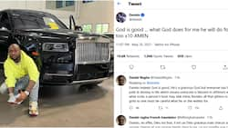 Mixed reactions as Davido prays for fans after acquiring N240m 2021 Rolls Royce