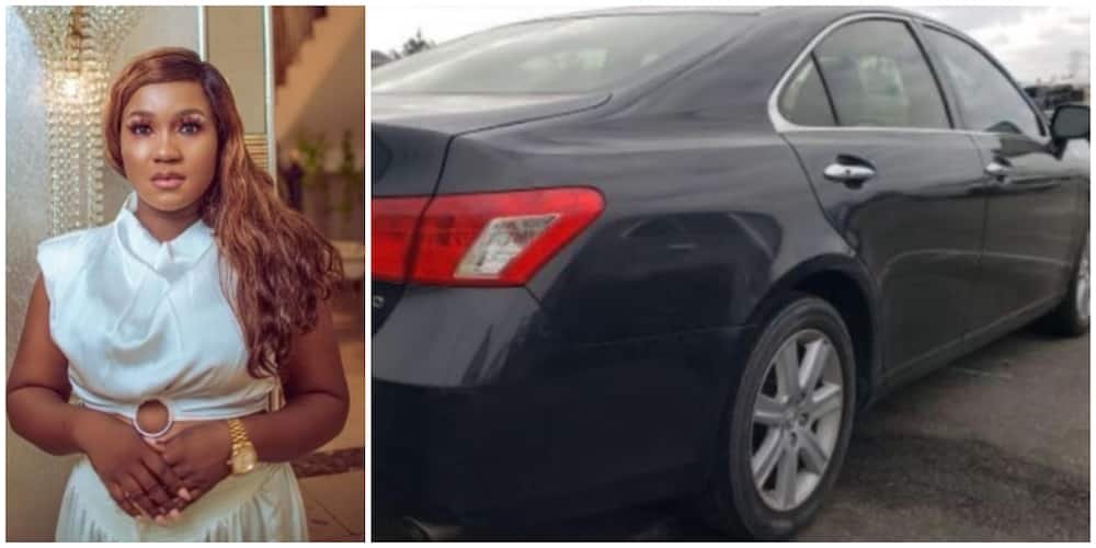 Photos of Urennaya Juliet and her new car.