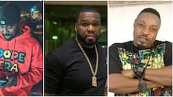 Rapper Eedris Abudlkareem reacts as former G Unit member gives a recount of his ugly exchange with 50 Cent